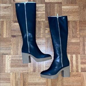 Calvin Klein knee-high leather boots
